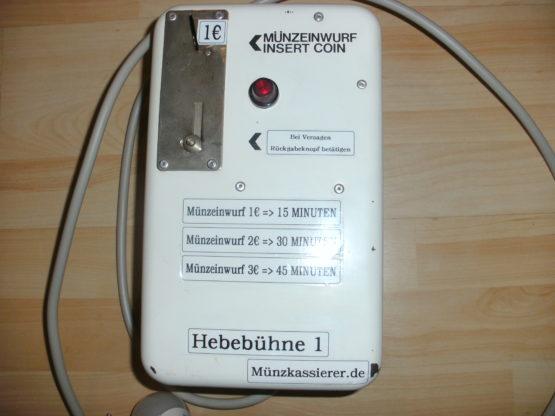 Münzkassierer.de Münzautomaten.com Hebebühne 380 - 400 Volt