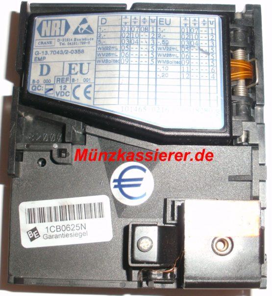 Münzautomaten.com Münzkassierer.de Beckmann EMS 335 EMS335 Münzprüfer Münzeinwurf NRI G-13 70432-0358 EMP
