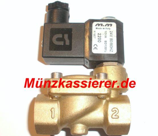 Münzkassierer.de Magnetventil DUSCHE Münzautomat Münzkassierer 24Volt AC ~
