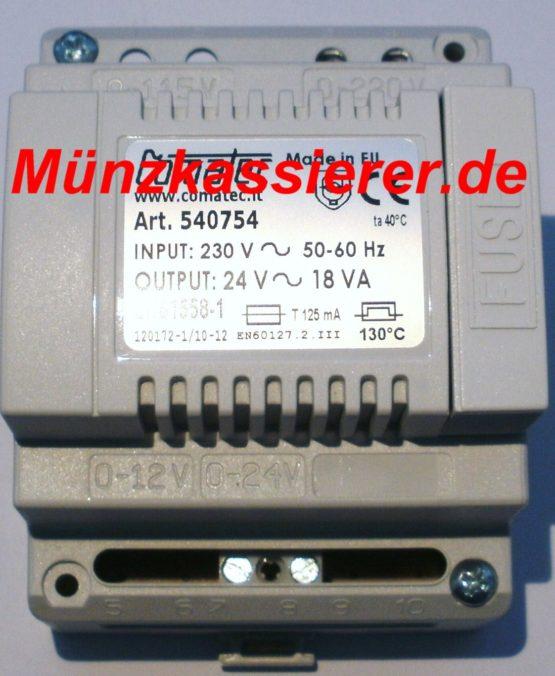 Transformator Trafo 230VAC 24V AC ~ 18VA Münzkassierer.de Kleinspannung