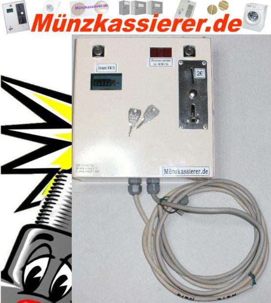 Münzkassierer Kassierautomat mit Stromzähler 230Volt-Münzkassierer.de-0