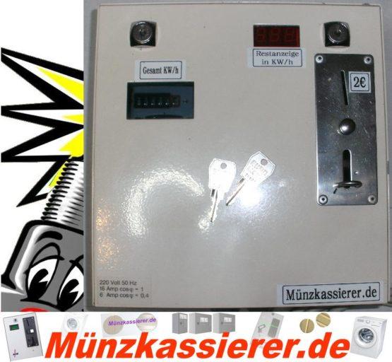 Münzkassierer Kassierautomat mit Stromzähler 230Volt-Münzkassierer.de-1