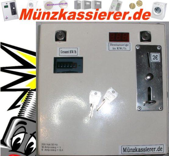 Münzkassierer Kassierautomat mit Stromzähler 230Volt-Münzkassierer.de-2