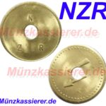 10 x Münzen Wertmarken Jetons Ø 26 x 1,6 - Loch Ø 6mm. Münzkassierer NZR